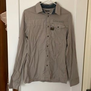 G Star Raw gray button down